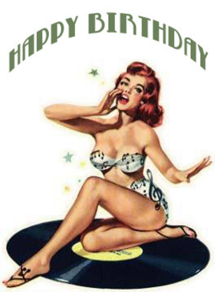 happy-birthday-pinup. Well It's my blog's birthday today. A happy day, one